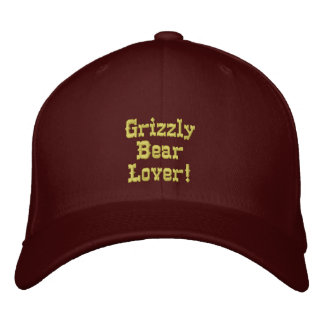 GRIZZLY BEAR LOVER Embroidered Cap Baseball Cap
