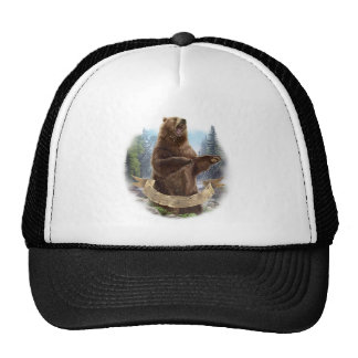 Grizzly Bear Mesh Hat