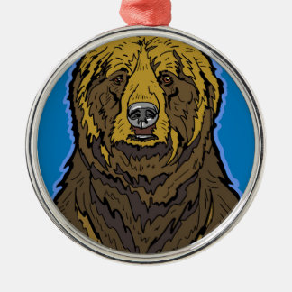 Grizzly Bear Metal Ornament