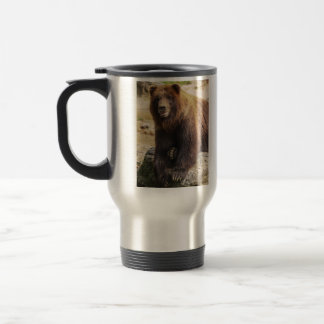 Grizzly Bear 15 Oz Stainless Steel Travel Mug