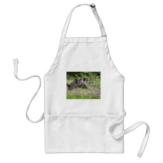 Grizzly Bear on the Run Adult Apron