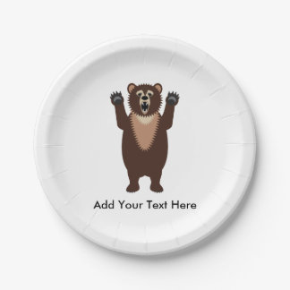 Grizzly Bear Paper Plate