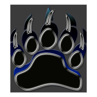 Grizzly Bear Paw Poster