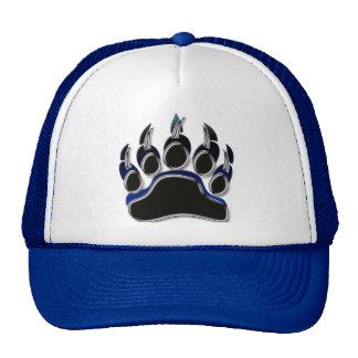 Grizzly Bear Paw Trucker Hat