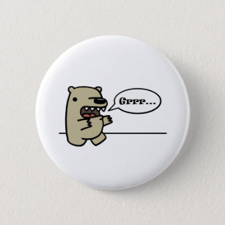 Grizzly Bear Pinback Button