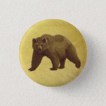 Grizzly Bear Pinback Button