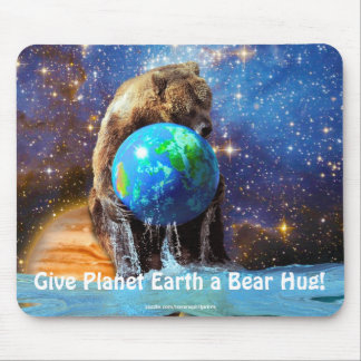 Grizzly Bear & Planet Earth Fantasy Mousepad