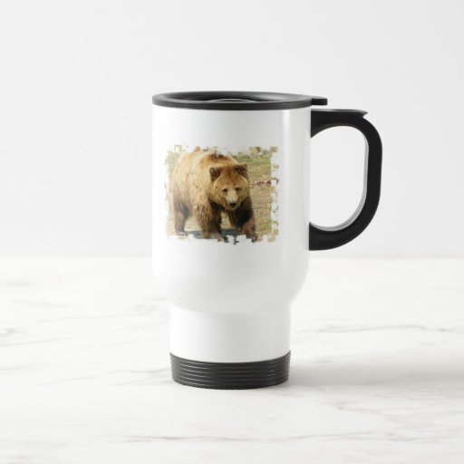 Grizzly Bear Plastic Travel Mug