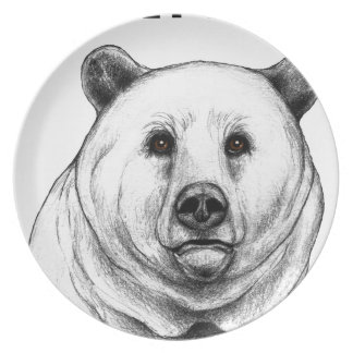 Grizzly Bear Dinner Plates