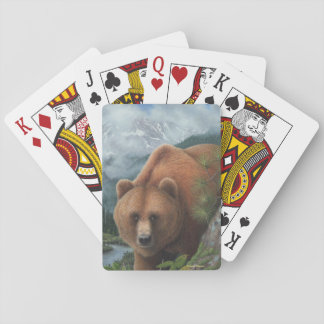 Grizzly Bear Playing Cards