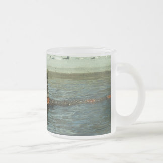 Grizzly Bear Playing Frosted Glass Coffee Mug