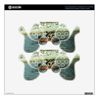 Grizzly Bear Playing with Log Decal For PS3 Controller