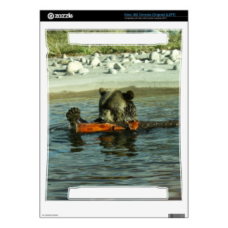 Grizzly Bear Playing with Log Xbox 360 Decal