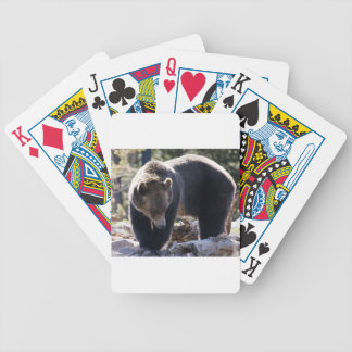 Grizzly Bear Bicycle Poker Cards