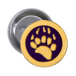 GRIZZLY BEAR PRINT 2 INCH ROUND BUTTON