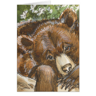 Grizzly Bear Resting Card