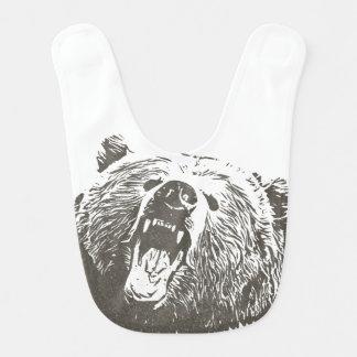 Grizzly Bear Roar Beast Boy Baby Bib