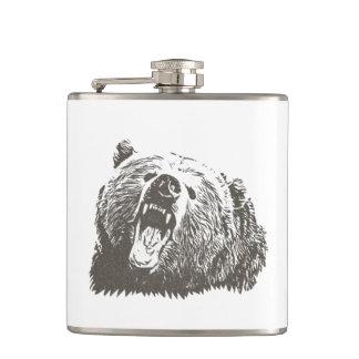 Grizzly Bear Roar Flask