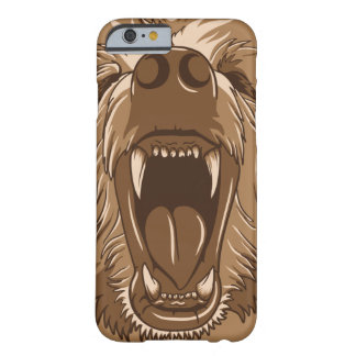 Grizzly Bear Roaring Open Mouth Barely There iPhone 6 Case