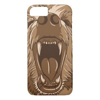 Grizzly Bear Roaring Open Mouth iPhone 8/7 Case