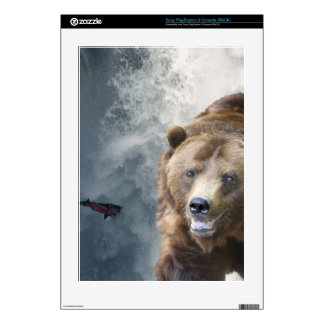 Grizzly Bear, Salmon & Falls Playstation 3 Skin PS3 Decal