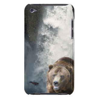 Grizzly Bear, Salmon & Waterfall Ipod Touch Case