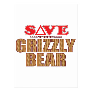 Grizzly Bear Save Postcard
