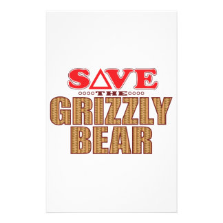 Grizzly Bear Save Stationery