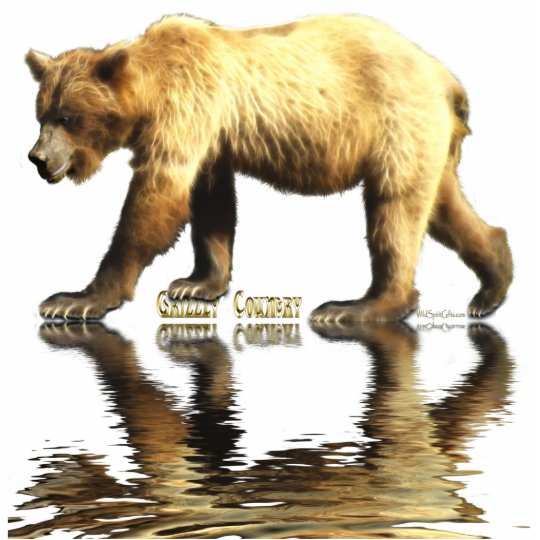 GRIZZLY BEAR (sculpted) Wildlife Magnet