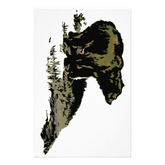 Grizzly Bear Shadow Stationery