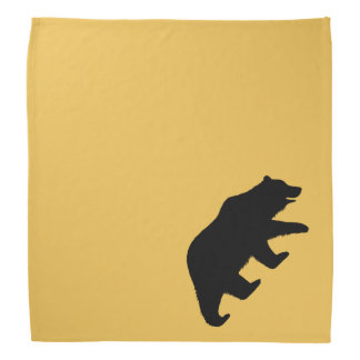 Grizzly Bear Silhouette Bandana