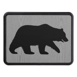 Grizzly Bear Silhouette Trailer Hitch Cover