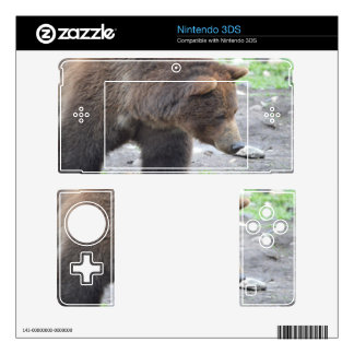 Grizzly Bear Decal For 3DS