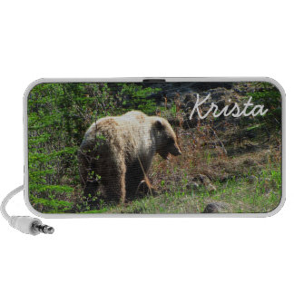 Grizzly Bear Smile; Customizable Travel Speaker