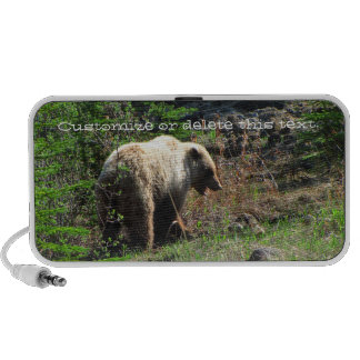 Grizzly Bear Smile; Customizable Travelling Speakers