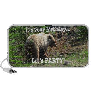 Grizzly Bear Smile; Happy Birthday Mp3 Speaker