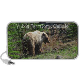 Grizzly Bear Smile; Yukon Territory, Canada Mini Speakers