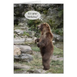 Grizzly Bear Standing Ovation Greeting Card