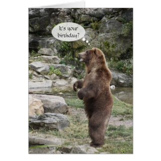 Grizzly Bear Standing Ovation Greeting Cards