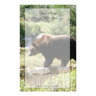 Grizzly Bear Stationery