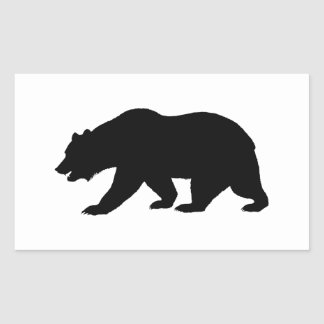 Grizzly Bear Rectangular Stickers