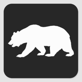 Grizzly Bear Square Stickers