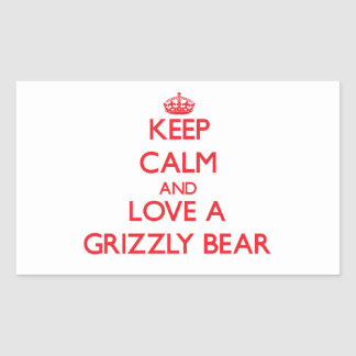 Grizzly Bear Rectangular Sticker