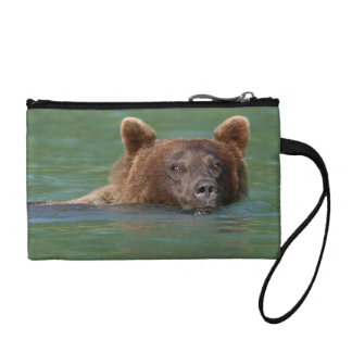Grizzly Bear Swimming Coin Wallet