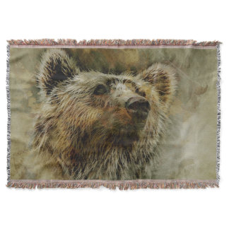 Grizzly Bear Throw