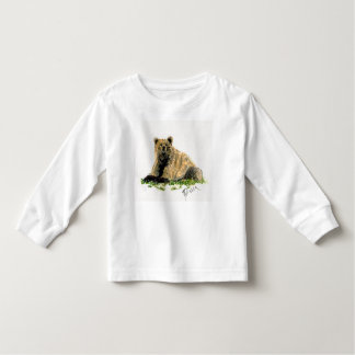 Grizzly Bear Toddler Long Sleeve Toddler T-shirt