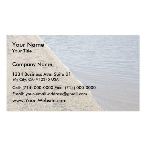 Grizzly bear tracks, Sithylemenkat Lake Business Card
