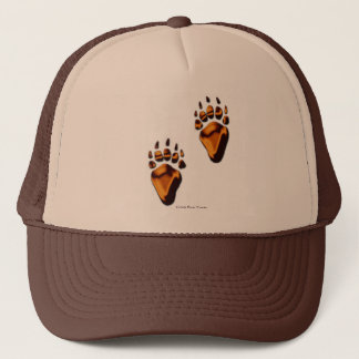 GRIZZLY BEAR TRACKS TRUCKER HAT