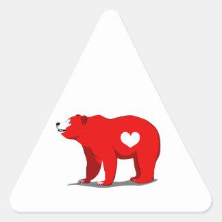 Grizzly Bear Triangle Sticker