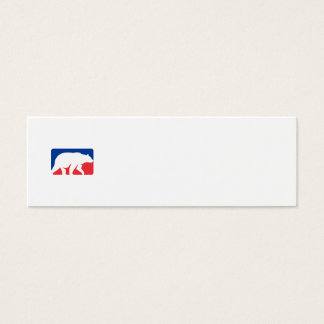 Grizzly Bear Walking Silhouette Rectangle Retro Mini Business Card